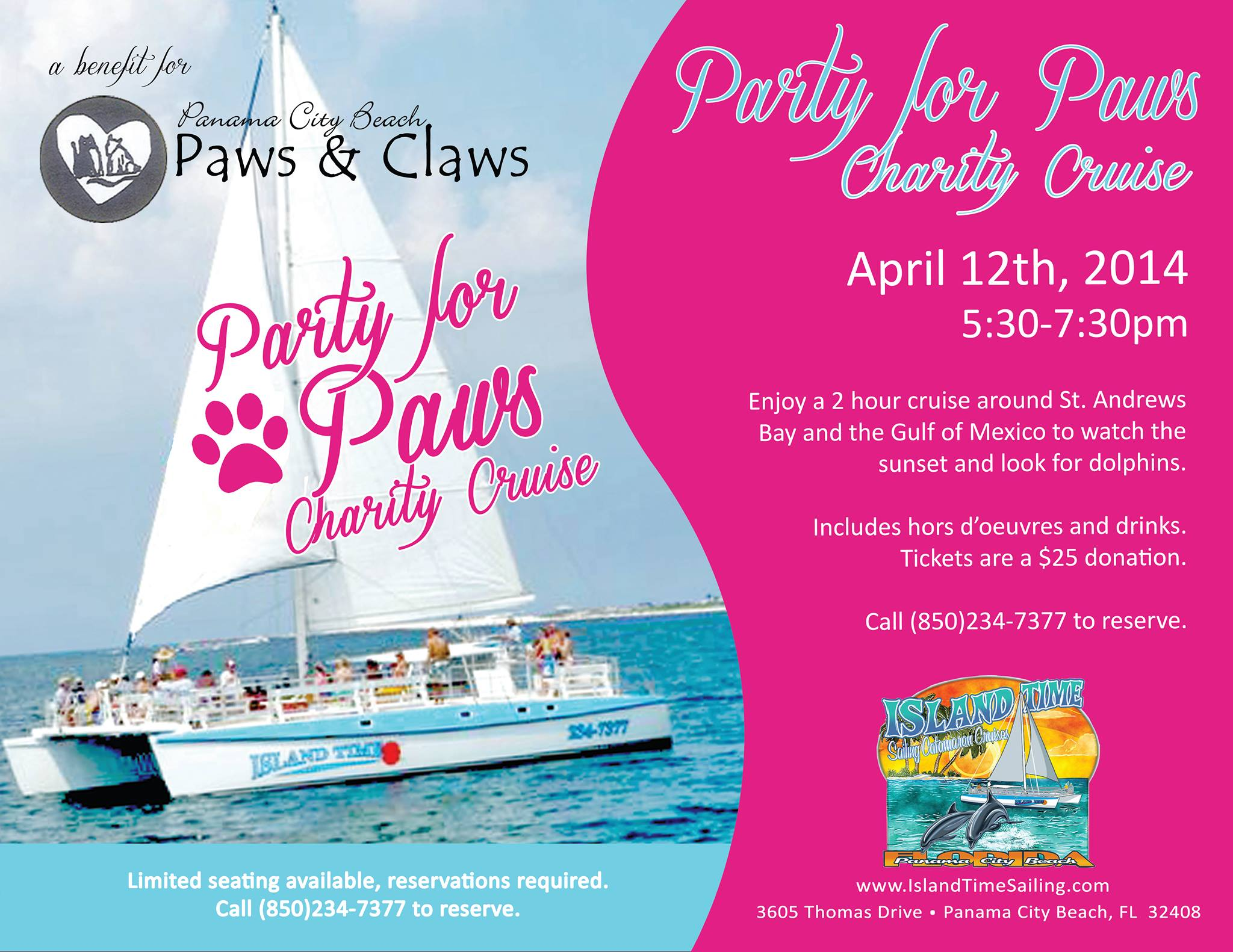 PCB Paws Charity Cruise  2014